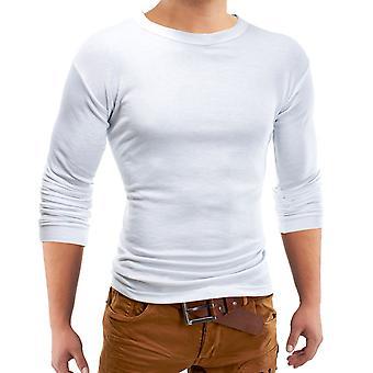 Menns grunnleggende lang ermet klassiske skjorte langarma sweatshirt hettegensere O-hals