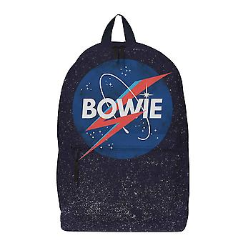 David Bowie Backpack Bag Space Logo new Official Rocksax Black