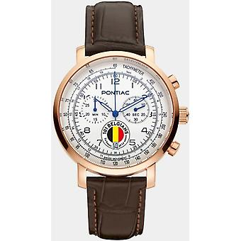 Pontiac Miesten Watch 101 Belgialaiset - 24 tuntia Le Mans Chronograph P40008BEL