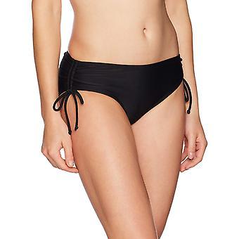 Coastal Blue Women's Swimwear Bikini Bottom, Svart, S (4-6)