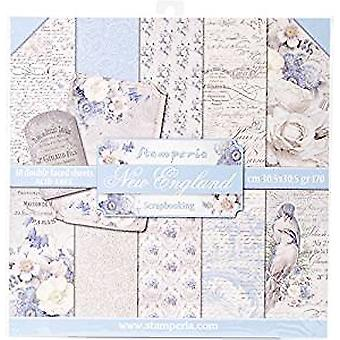 Stamperia New England 12x12 tommers papirpakke