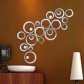 Fashion Delicate 3d Circle Decorative Mirror Sticker - Home Wall Diy Stickers