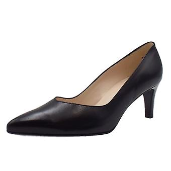 Peter Kaiser Nura Classic Court Shoes In Black Leather