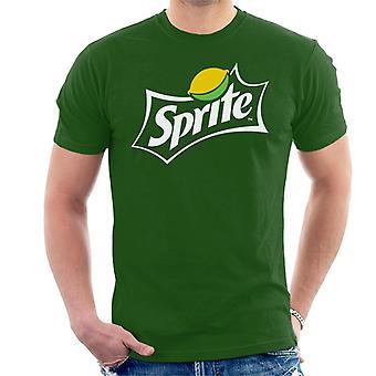 T-shirt dos homens logo Sprite Lemon