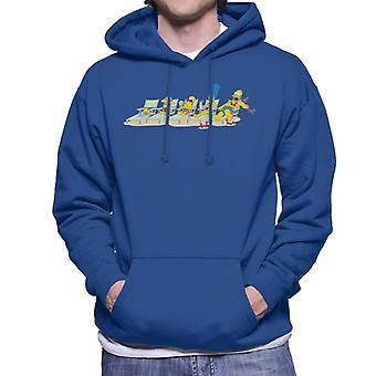 The Simpsons Family Sunbeds Men's Hooded Sweatshirt