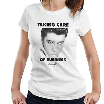 Elvis Taking Care Of Business Women's T-Shirt