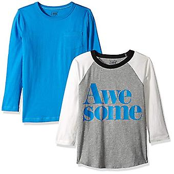 / J. Crew Brand- LOOK by Crewcuts Boys' 2-Pack Graphic/Solid Long Sleev...