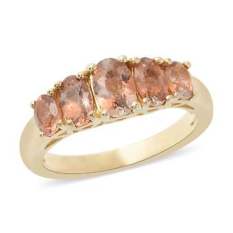 Fünf Stein weiß Diamant-Ring für Frauen Sterling Silber, 1,5 Ct TJC