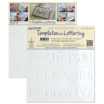 Plantillas Leane Creatief para letras Alfabeto 2