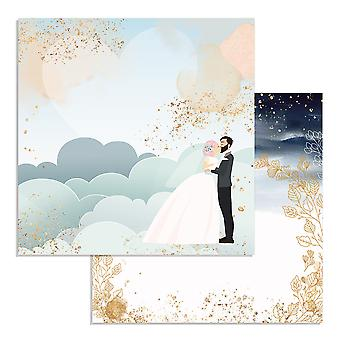 Stamperia Love Story Clouds 12x12 Inch Paper Sheets (10pcs) (SBB724)