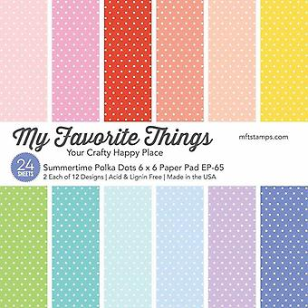 My Favorite Things Summertime Polka Dots 6x6 Inch Paper Pad