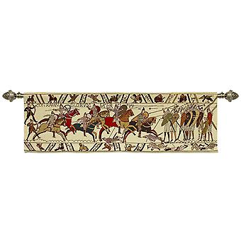 Bayeux tapestry wall hanging  by signare tapestry / 151cm x 45cm / wh-bt-hb