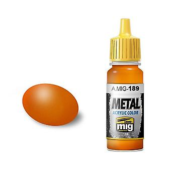 Ammo by Mig Acrylic Paint - A.MIG-0189 Metallic Orange (17ml)