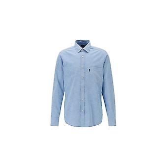 Hugo Boss Casual Hugo Boss Long Sleeved Open Blue Shirt