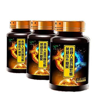 Herten Pizzle Ginseng Maca Oyster Sealwort Tabletten For Man Improve Immuniteit Slaapkwaliteit Extreme Power