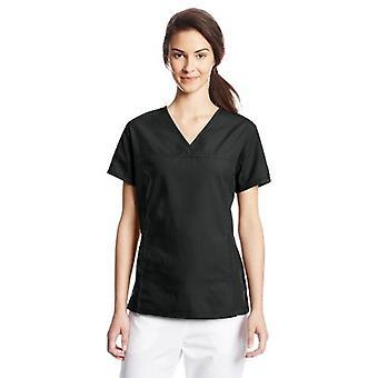 Cherokee vrouwen ' s V hals Scrubs shirt, zwart, X-Small