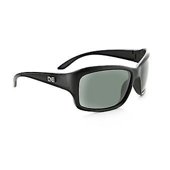 Tempo - womens polarized black / brown sports wrap adventure sunglasses