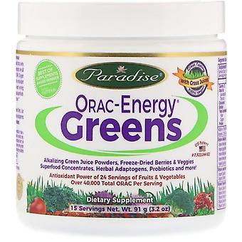 Paradise Herbs, ORAC-Energy Greens, 3,2 oz (91 g)