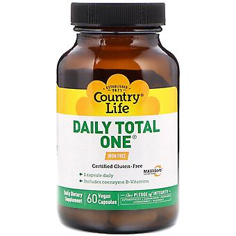 Country Life, Daily Total One, Iron-Free, 60 Vegan Capsules