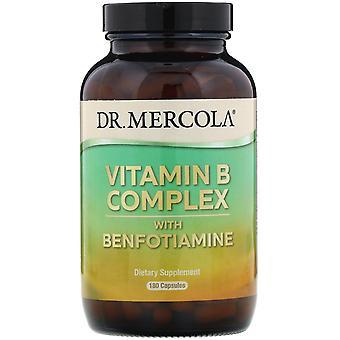Dr. Mercola, Vitamin B Complex with Benfotiamine, 180 Capsules
