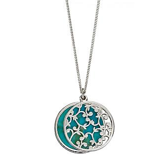 Joshua James Radiance Silver & Turquoise Two Piece Flower Pattern Hanger