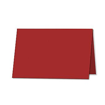 Chilli Red. 100mm x 120mm. Place Card. 235gsm Folded Card Blank.