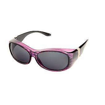 Sunglasses Women's Crossover for Purple Striped (2033A)