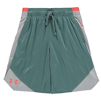 Under Armour Kids Poly Shorts Bottoms Seamless Stitch Elasticated Waistband