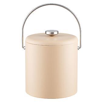 Contempo Beige 3Qt. Ice Bucket With Thick Vinyl Lid , Bale Handle, No Trim