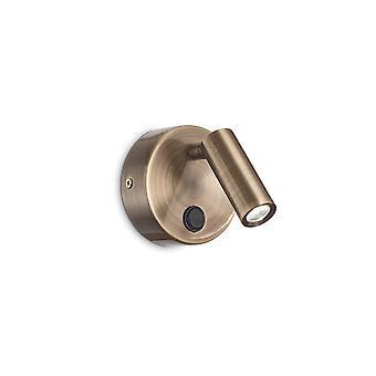 Ideell Lux PAGE - Integrert LED innendørs lesevegglampe 1 lys Brunito 3000K
