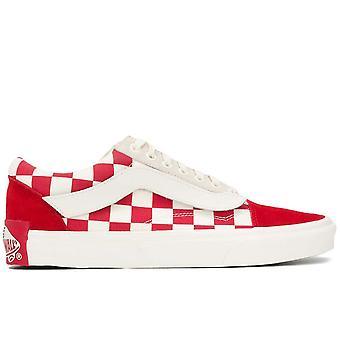 Vans Ezcr011013 Men's White/red Fabric Sneakers