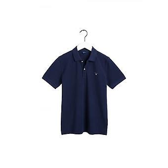 GANT Kids Navy Original Pique Polo Shirt
