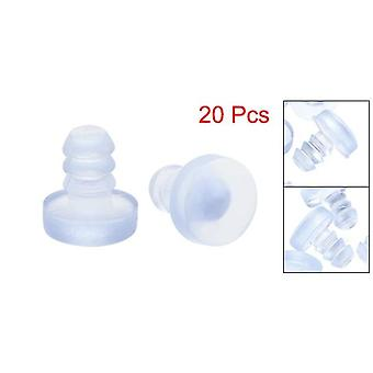 Uxcell 10/20/30/50/100 Pcs Silicone Soft Stem Bumpers- 5mm Thread Diameter For Glass Table Cabinet