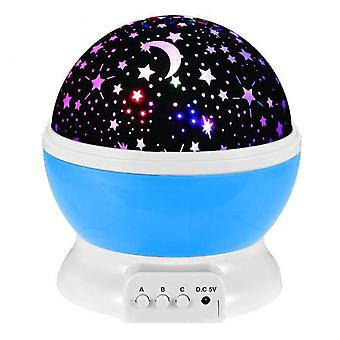Novelty Led Rotating Star Projector Lighting Moon Starry Sky Children Baby Night Sleep Light