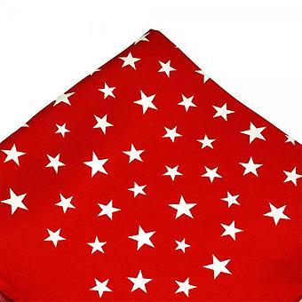 Ties Planet Antonio Boselli Piros és Fehér Csillag Mintás Pocket Square zsebkendő