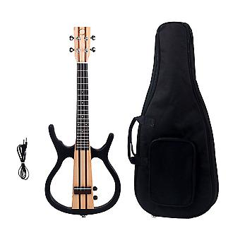 4 Strings Acoustic Electric Ukulele Mini Guitar Connect the Earphone