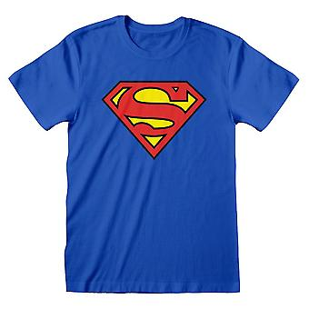 Superman DC Comics Logo Blau Erwachsene T-Shirt Medium Blue (SUP00005TSCMM)