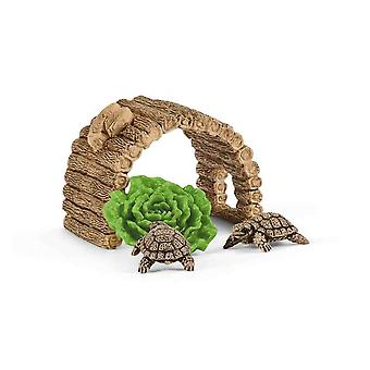 Schleich home for tortoise set for children over 3 years old