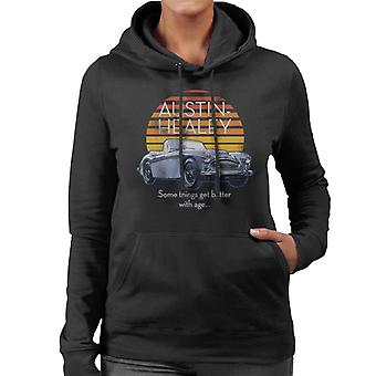 Austin Healey Some Things Get Better With Age British Motor Heritage Women's Hooded Sweatshirt