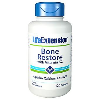 Life Extension Bone Restore mit Vitamin K2, 120 Kapseln