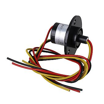 Zwarte 10A Mini Conductors Slip Ring 3 Circuits 240V Hat Type 200mm Lood