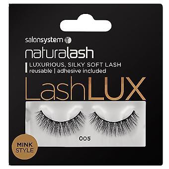 Salon System  Naturalash - Lashlux - No 005 Reusable Eyelashes - Mink Style (adhesive Included)