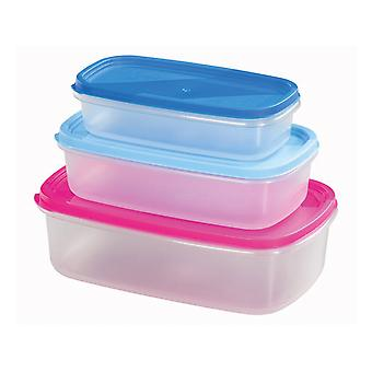 Chef Aid Storage Containers Rectangular 3 Piece 10E31160