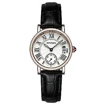 SANDA P206 Leather women Fashion Style Lady Dress Quartz Watch