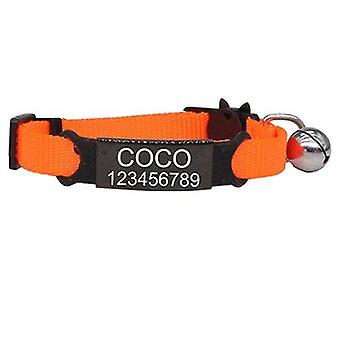 Personalized Id Free Engraving Cat Collar - Safety Breakaway Adjustable