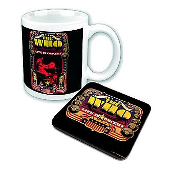 The Who Mug and Coaster Live in Concert USA new official Gift set