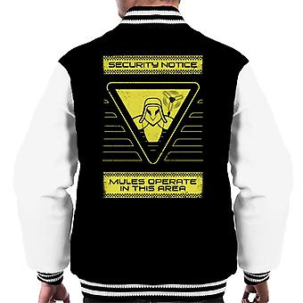 Death Stranding Security Notice Mules In The Area Men's Varsity Jacket