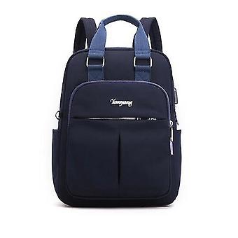 Solid Ladies Backpacks Large Capacity, Multi-pocket Women Fashion School Bag