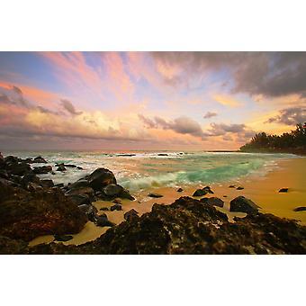 Havaijin Maui Sunset Hookipa Beach PosterPrint