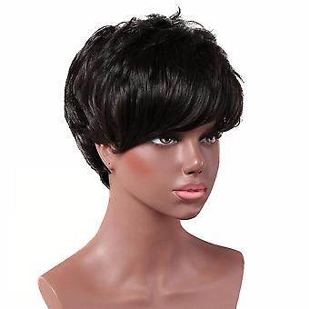 Women's Wig Realistic Wish Short Side Bangs Small Curly Wig